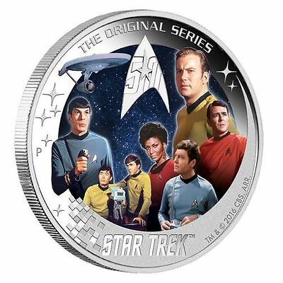 Star Trek: U.S.S. Enterprise NCC-1701 Crew 2016 2oz Silver Proof Coin