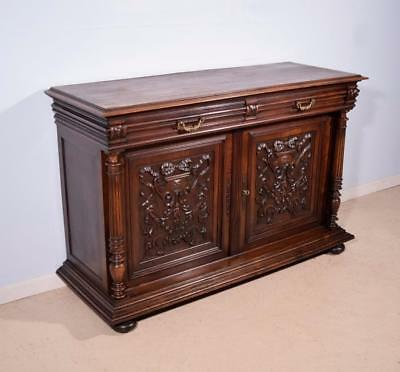 *Antique French Renaissance Revival Sideboard/Buffet in Walnut