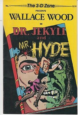 3-D ZONE #1 1987 -PRESENTS WALLACE WOOD IN DR.JEKYLL & MR HYDE by ROBERT LOU
