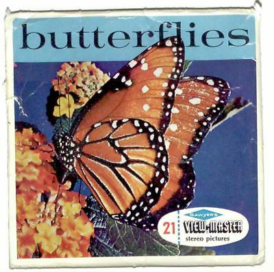 FOREIGN vintage SAWYERS view master BUTTERFLIES reels MADE IN BELGIUM entomogoly
