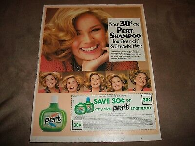 Vintage 1981 Pert Shampoo Ad And Coupon Sharon Stone