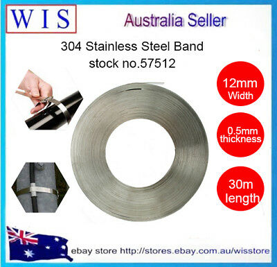 304 Stainless Steel Banding Strap,12mm x 0.5mm x 30m,Stainless Steel Strapping