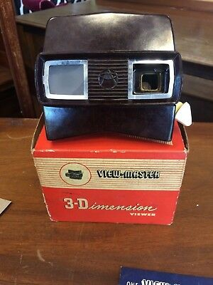 Vintage Boxed 3-Dimensional View Master With Four Colour Slides / Pictures
