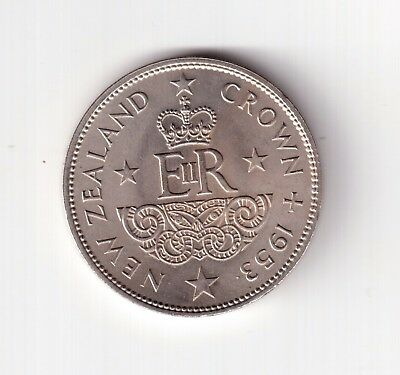 1953 Newzealand Crown High Grade With Luster.