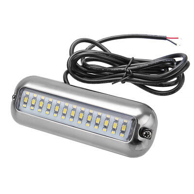 4.7'' White 416LM 316SS 39LED IP68 Underwater Pontoon Boat Transom Fishing Light