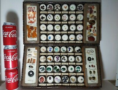 Rare!!  Antique jewellers gemstones sale samples display trays collection