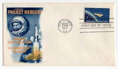 "Feb 20, 1962 ""Project Mercury"" - 3 Different Original First Day Covers"