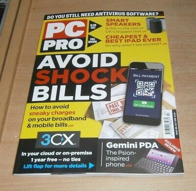 PC Pro magazine JUL 2018 Avoid Bill Shocks, Smart Speakers, Digital Refuseniks &
