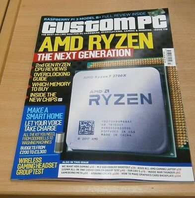 Custom PC magazine JUL 2018 AMD 2nd Gen Ryzen, Smart Home, Pi 3 Model B+ & more