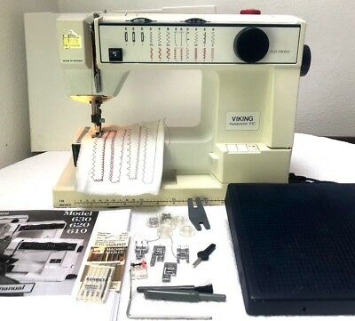 Husqvarna Viking 610 Electric Sewing Machine with Foot Control GWO