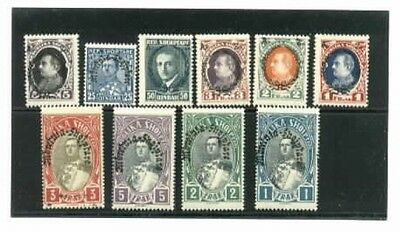 Albania Mini collection of Ten Different Mint NH Old Time Vintage Stamps