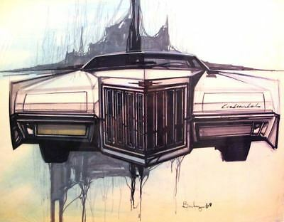 1968 Lincoln Continental Mark III Styling Artwork Photo ua2705-Z9HHIY