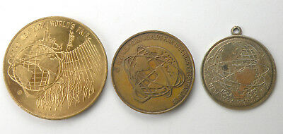 New York, NY. - 1964-1965 Worlds Fair Lot Of Two Medals, One Transit Token