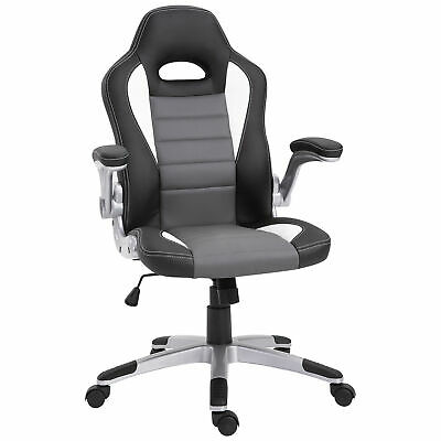 HOMCOM Office Chair Gaming Racing Swivel PU Leather Bucket Computer Chair
