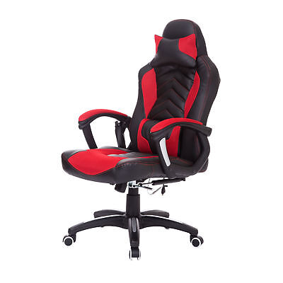 HOMCOM Massage Office Chair Computer Car Seat Height Ajustable Swivel Red New