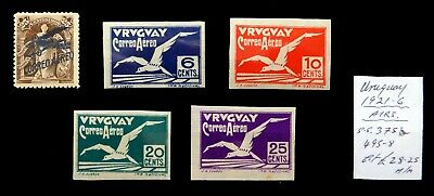 URUGUAY 1921/6 Airmails As Described Mounted Mint NH463