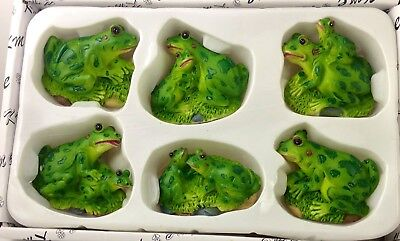 Frog Refrigerator Magnet 6 Pc Assorted Magnets Bistro Kitchen Decor Nice Gif