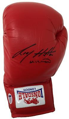 Ricky Hatton Signed Left Hand Lonsdale Boxing Glove Hitman Inscribed BAS