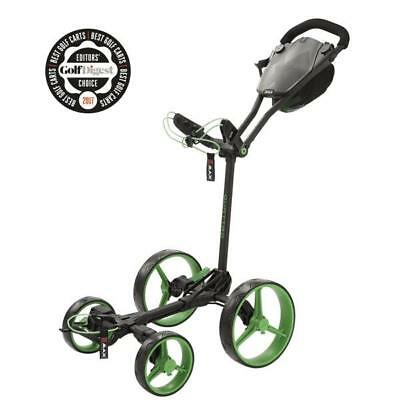BIG MAX GOLF Lame QUATTRO plat pliable Chariot de golf (PHANTOM / Citron Vert)