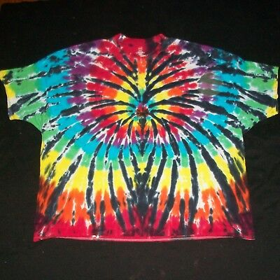 Dyenomite Colorfast Hand-Dyed Tie-Dye Heart Women/'s Juniors T-Shirt Valentines