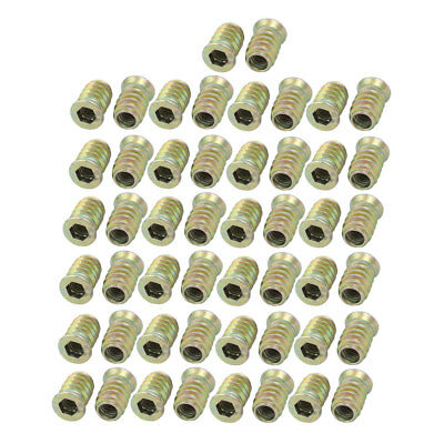 M6 Female to M10 Male Thread Furniture Insert Interface Hex Socket E-Nut 50pcs