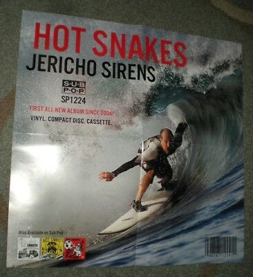 POSTERS by HOT SNAKES jericho sirens Promo for the bands new tour album cd show