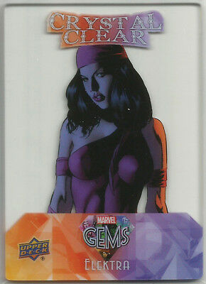 2016 Marvel Gems Upper Deck ~ CRYSTAL CLEAR Insert Card CC-1 Elektra