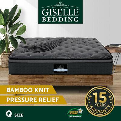 Giselle Bedding QUEEN Size Mattress Bed Pocket Spring Foam Bamboo 34CM