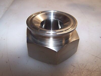 """New Triclamp 316L Stainless 2"""" X 1"""" Sanitary To Fnpt Adapter Jf245500"""