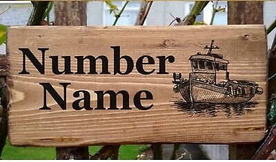 Fishing Boat Number Name Sign Plate Plaque Trawler Ship Marine Registration.
