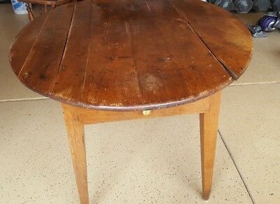 RARE late 1700's antique drop leaf fruit wood table