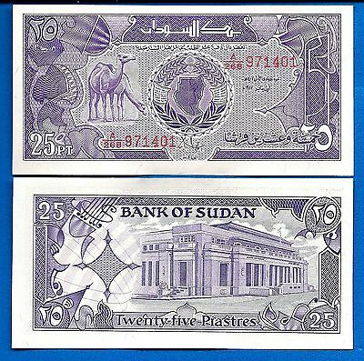South Sudan P-37 25 Piastres Year 1987 Camels Uncirculated Banknote
