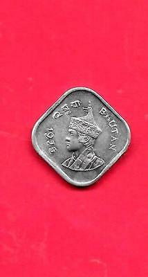 Bhutan Km37 1975 Unc-Uncirculated Mint Old Vintage 5 Chetrums Coin