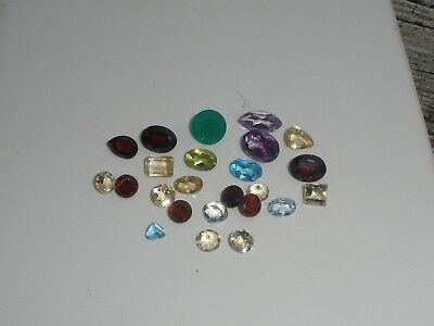Natural Gemstone Mixed Faceted Loose Parcel Lot 19 Total Carats