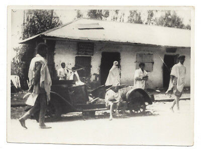 ABYSSINIA Taxi Hit by an Italian Bomb during the Crisis - Vintage Photo c1936