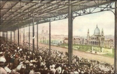 Canadian National Exhibition Horse Racing Grandstand Postcard
