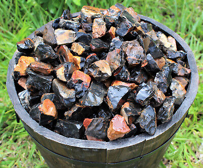 1000 Carat Lot Bulk Natural Rough Black Onyx Rock, Crystal Healing Raw, 200 Gram