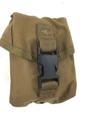 100 Round Coyote Brown Utility SAW Pouch, MOLLE II, Genuine USGI, Military Issue