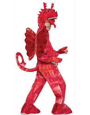 Childs Red Dragon Mythical Fairy Tale Animal Mascot Costume