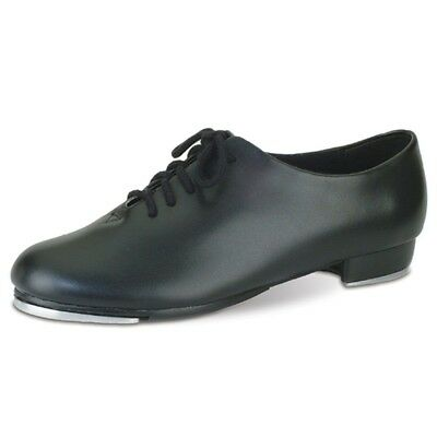 Danshuz Womens Black Oxford Lace Up Tap Dance Shoes Size 6.5