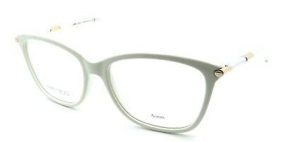 45450bf3e4 JIMMY CHOO RX Eyeglasses Frames JC 133 SAL 53-16-135 White Made in ...