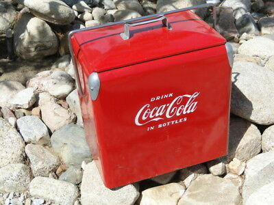 Vintage CoCa~CoLa Camping Cooler box / Ice Chest - Camper Trailer Tent