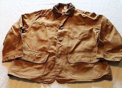New Old Stock Vintage 1950-60's American Field Barn Jacket  XL Hunting Canvas
