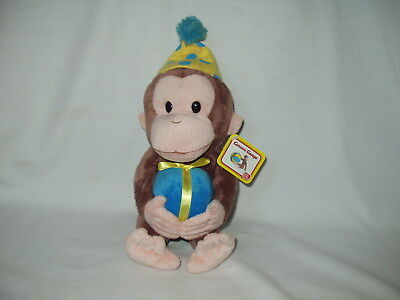 "GUND Birthday CURIOUS GEORGE 14"" Monkey plush stuffed character figure toy NWT"