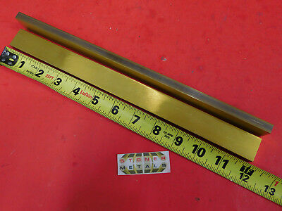 "2 Pieces 3/8"" x 1"" C360 BRASS FLAT BAR 12"" long Solid Mill Stock H02 .375""x 1.0"""