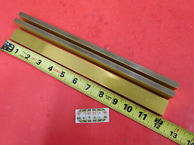 "3 Pieces 3/8"" x 1"" C360 BRASS FLAT BAR 12"" long Solid Mill Stock H02 .375""x 1.0"""