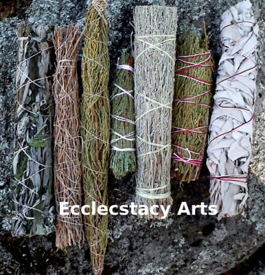 3 Smudge Stick Wands-Copal-Frankincense-Pinon-Cedar Smudges-13 To Choose From