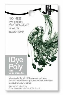 New Jacquard iDYE Poly Fabric Dye - For Polyester & Nylon - BLACK - JID454