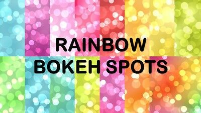 RAINBOW BOKEH SPOTS SCRAPBOOK PAPER - 15 x A4 pages