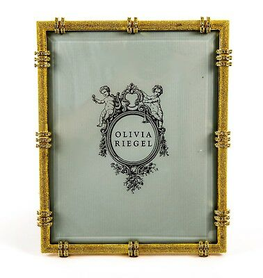 Olivia Riegel Gold Cini Frame 8 X 10 Picture Photo Swarovski Crystals